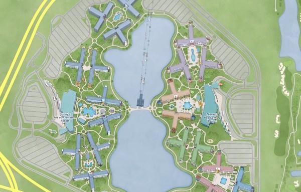 Disney's Skyliner Added to Disney World's Interactive Park Map 2