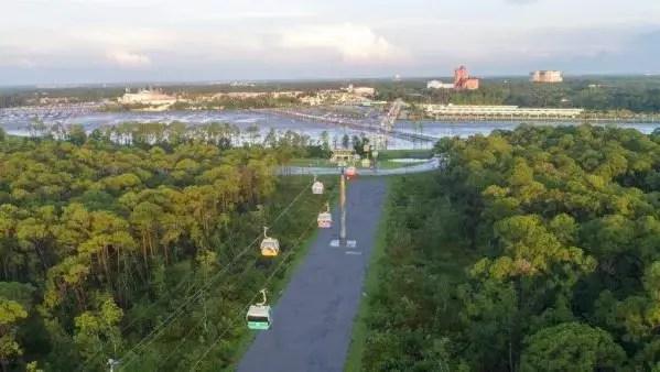 Disney's Skyliner Added to Disney World's Interactive Park Map 1