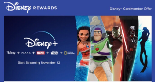 New Disney+ Offer Exclusively for Disney Visa Cardmembers
