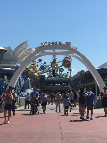 New Tomorrowland Sign Installed in the Magic Kingdom 1