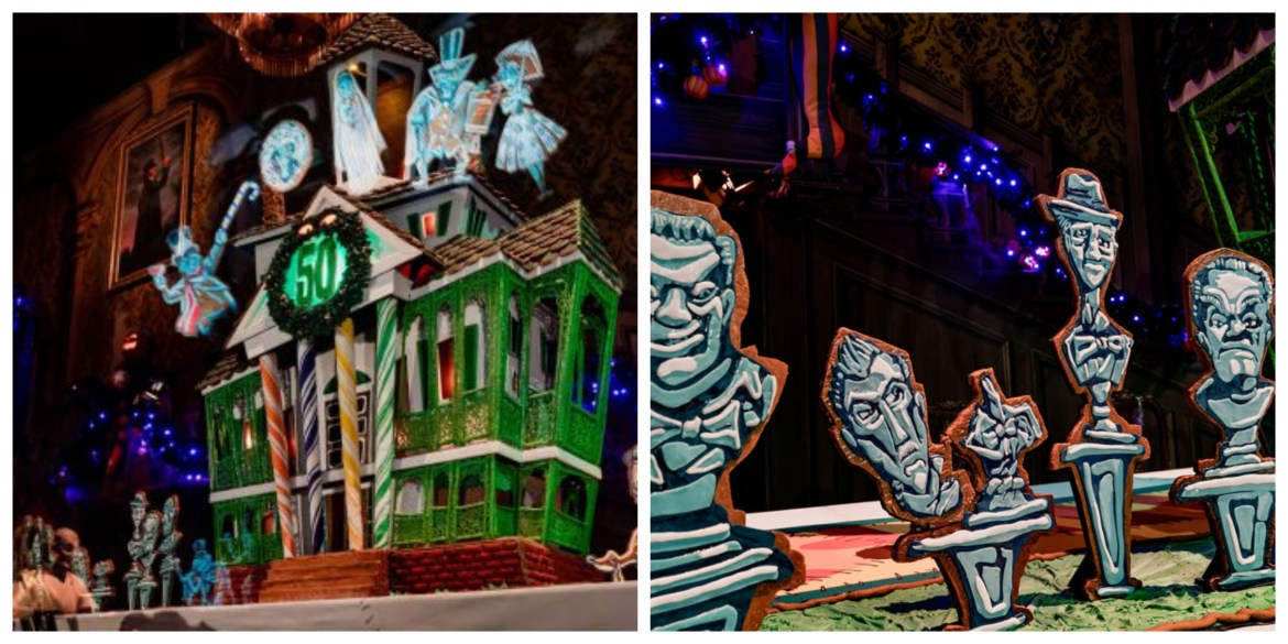 2019 Haunted Mansion Holiday 50th Anniversary Gingerbread House First Look