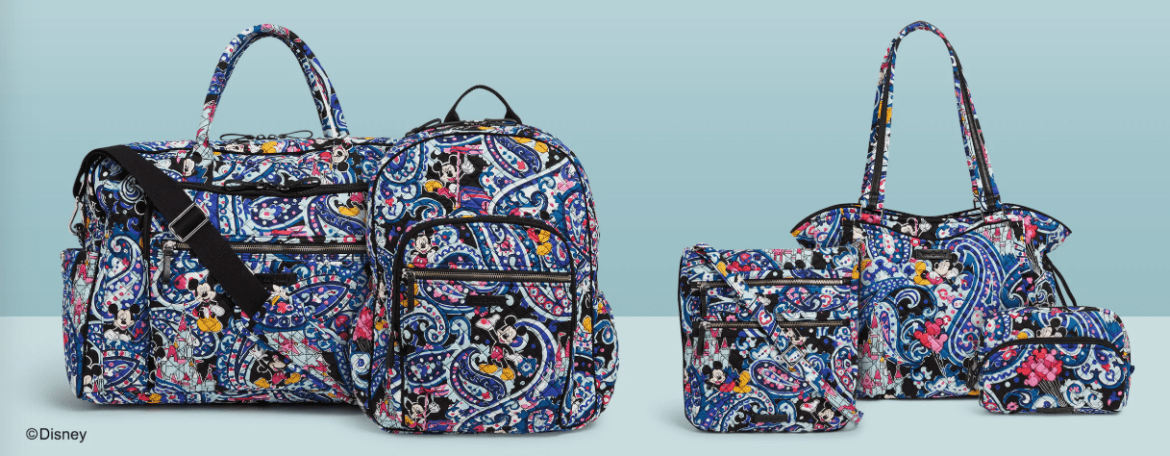 Cheery New Mickey Paisley Vera Bradley Collection Coming Soon