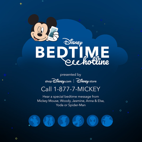 Hear a Bedtime Message from your Favorite Disney Character