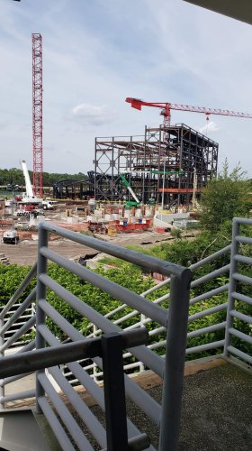 Tron Coaster Construction Update from the Magic Kingdom 3