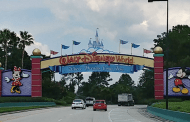 Walt Disney World New Digital Sign to Magic Kingdom Toll Plaza