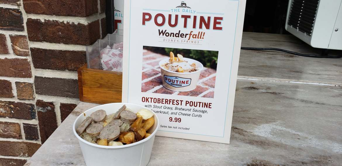 New Oktoberfest Fries are at The Daily Poutine in Disney Springs