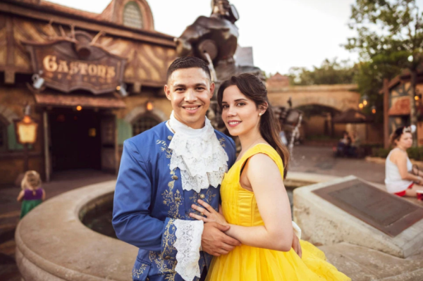 Magical Beauty and The Beast Proposal At Disney World! 1