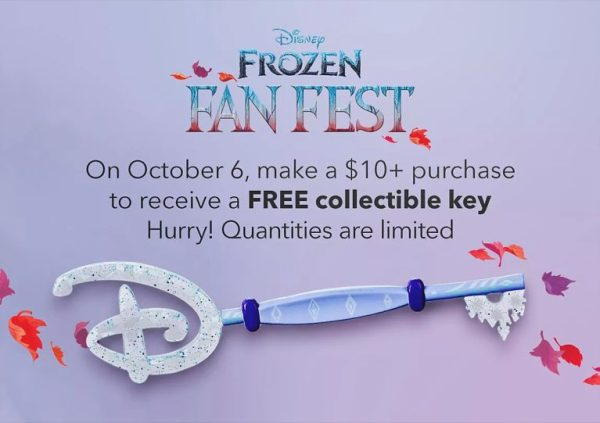 Free Frozen Collectible Key at the Disney Store & Online on October 6th 2