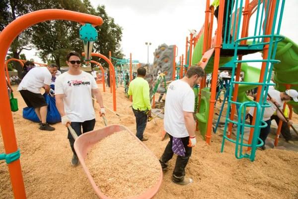 Disneyland Cast Members Help Build 12 Playgrounds For Anaheim Community