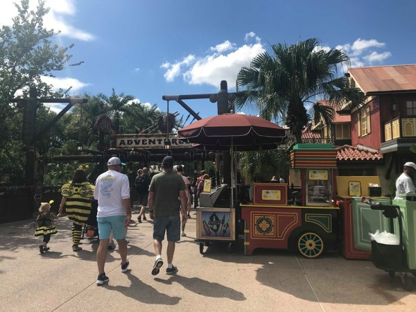 Magic Kingdom Spring Roll Cart Moved to a New Location