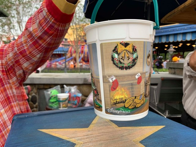 Happy Holidays Disney Popcorn Bucket
