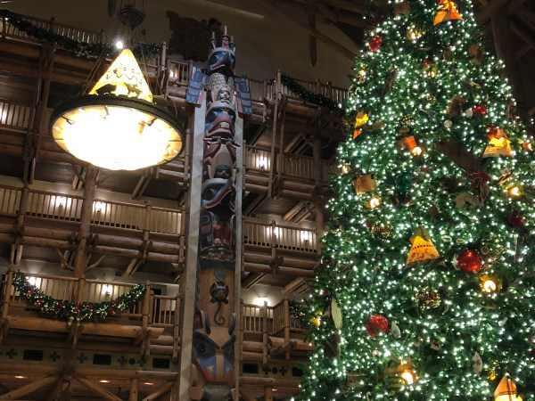 The Christmas Tree at Disney's Wilderness Lodge 2