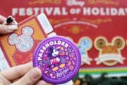 'Sip and Savor' AP Buttons at Festival of Holidays in Disneyland