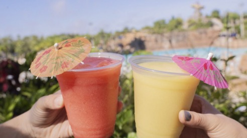 aestically pleasing instagrammable drinks at typhoon lagoon