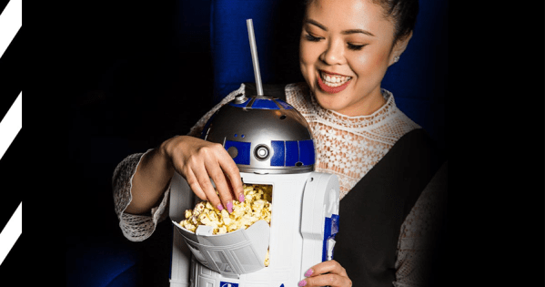 R2-D2 Popcorn and drink combo