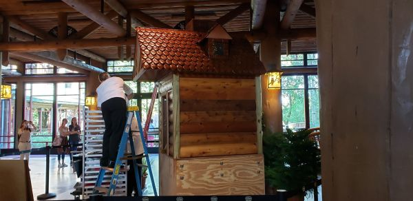 Gingerbread Cabin at Wilderness Lodge is Almost Here! 1