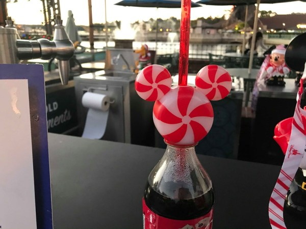 candy cane Mickey bottle topper