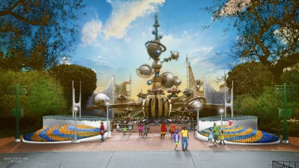 There's a New Great, Big, Beautiful Entrance Coming to Tomorrowland in Disneyland