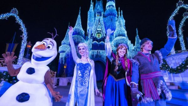 See the First 'A Frozen Holiday Wish' Castle Lighting of the Season on Nov. 3rd LIVE 1