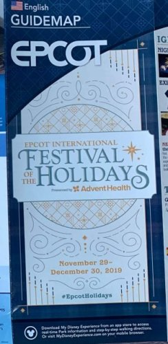 Photos: New Epcot Map for the 2019 Festival of the Holidays
