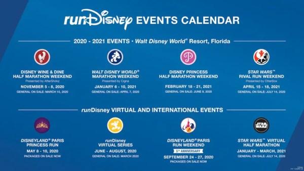 Run Disney Schedule For 2020 & 2021 2