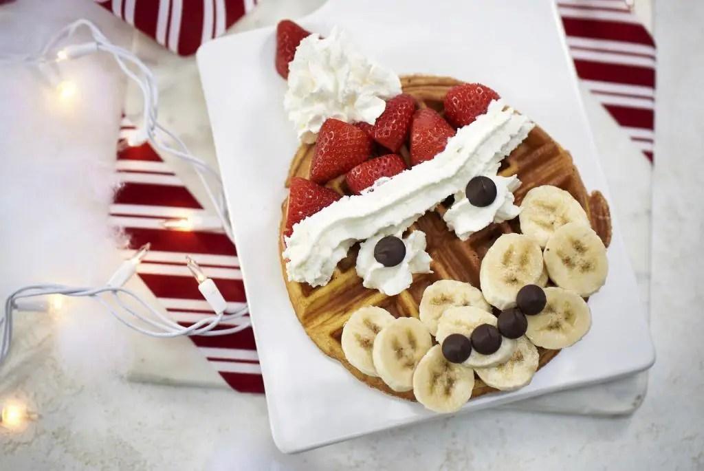 Delicious Santa Waffles Spotted at Disney Springs