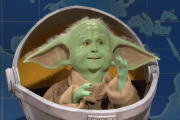 Baby Yoda stops by Saturday Night Live to talk about his newfound fame