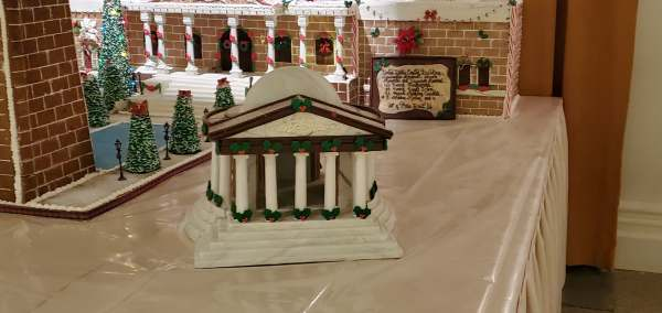 Epcot's America Pavilion Stuns with Its Gingerbread Display 3