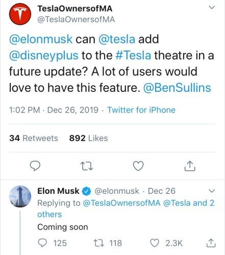 Disney+ Will Be Soon Be Available For Tesla Owners 1