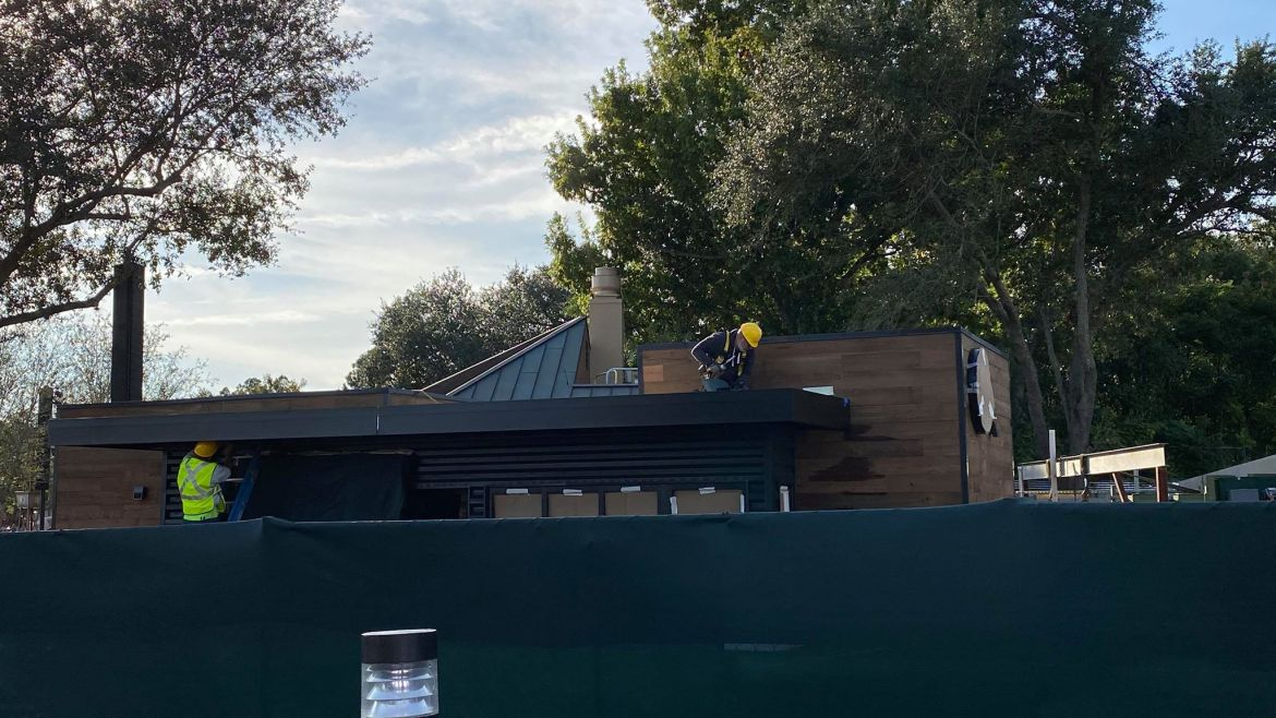 New Starbucks Construction Update At Epcot