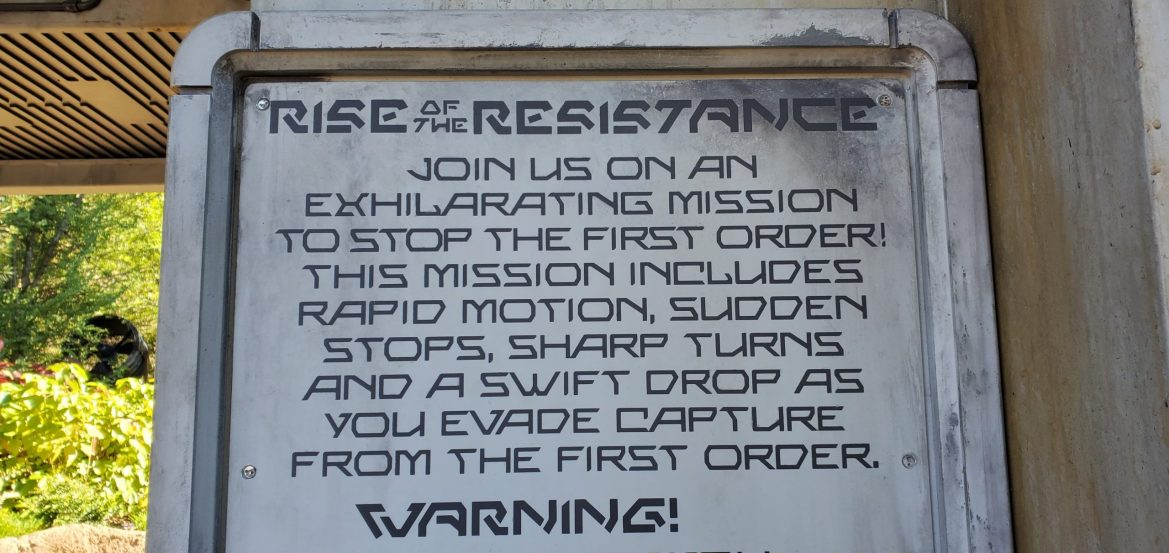 Know Before You Go: Restrictions for Rise of the Resistance Attraction