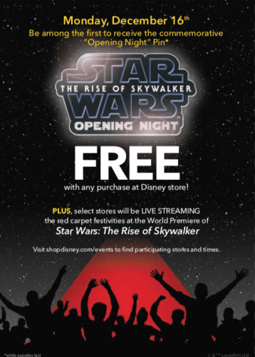 Visit the Disney Store on December 16th for special Star Wars: Rise of Skywalker Event! 1
