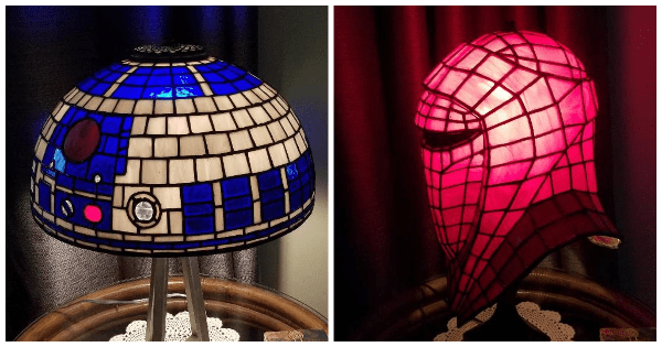 The Force Is Strong With Tiffany Inspired Star Wars Glass Lamps