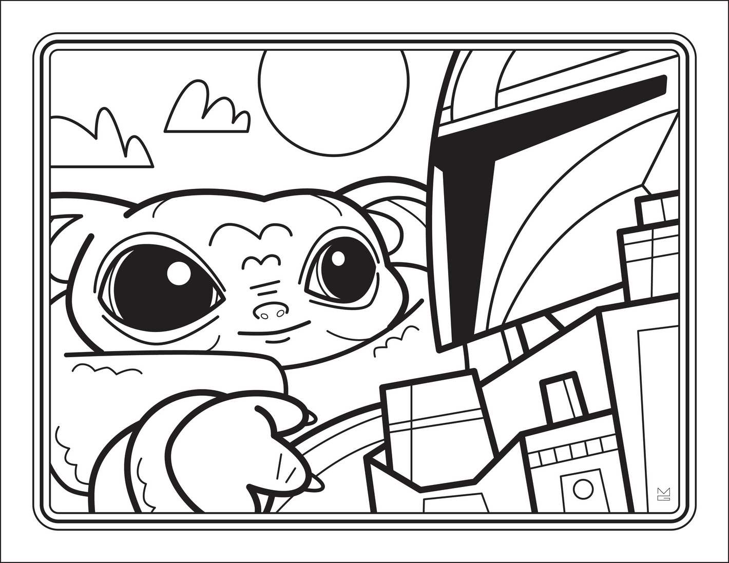 You Can Get A Free Downloadable Baby Yoda Coloring Book Chip And Company