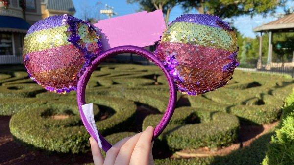 New Reversible Sequin Figment Minnie Ears For Festival of the Arts 2