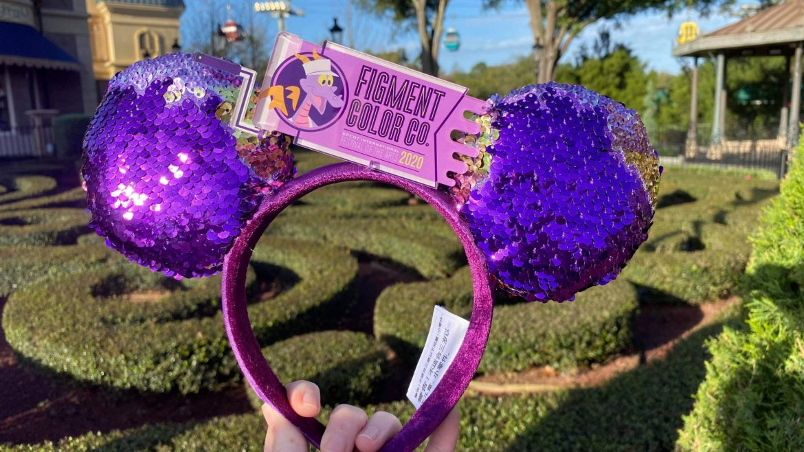 New Reversible Sequin Figment Minnie Ears For Festival of the Arts