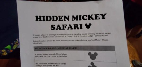 Hidden Mickey Safari at Disney's Animal Kingdom Lodge 3