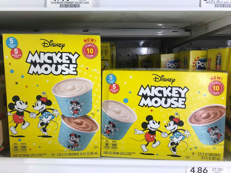 New Mickey Ice Cream Cups Available In Your Grocer's Freezer