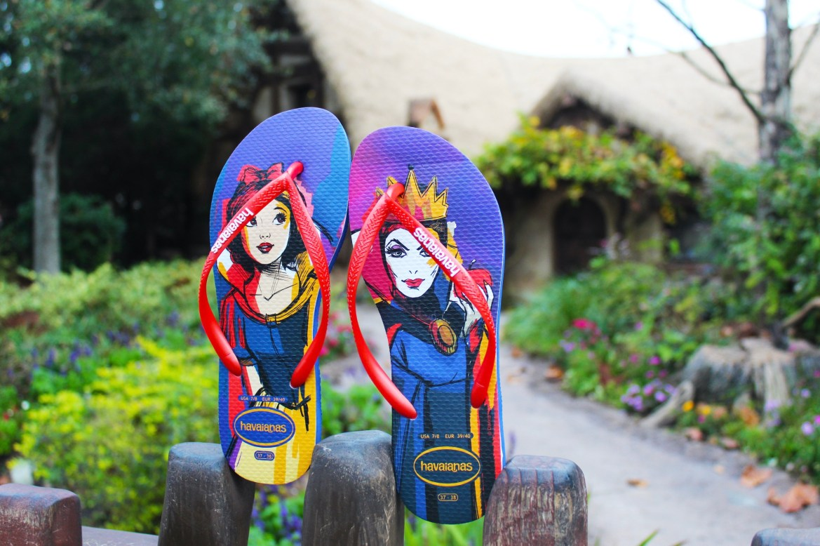 New Disney Villain & Princess inspired flip flops coming soon to Disney Springs