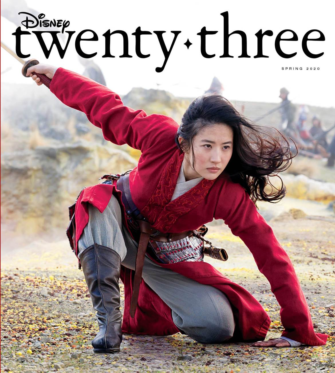 Live Action Mulan on the cover of the latest issue of D23 Magazine