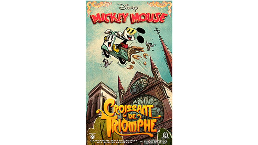 "New ""Croissant de Triomphe"" Poster For Mickey & Minnie's Runaway Railway"