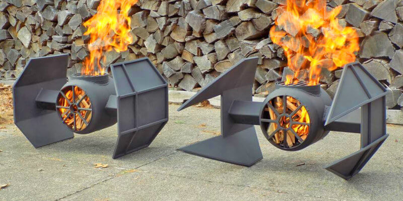 These Star Wars Themed Fire Pits are the Perfect Addition to Your Backyard