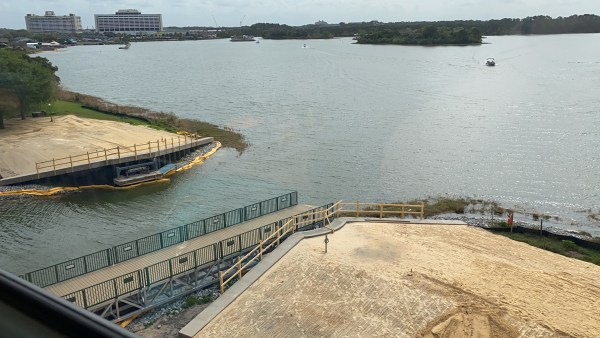 Grand Floridian to Magic Kingdom Walkway Construction Update 1