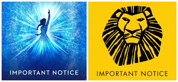 Broadway Disney's The Lion King and Frozen Have Been Put on Ice Due to COVID-19 1