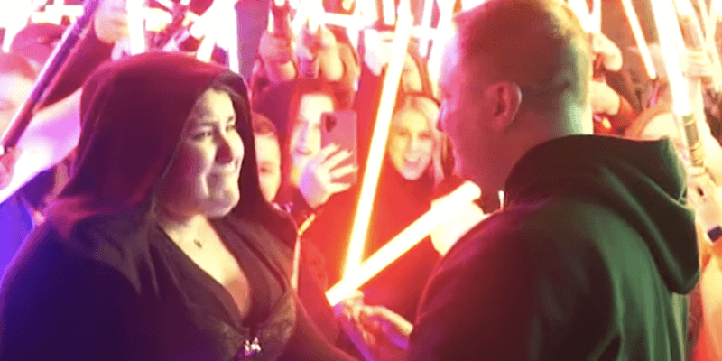 'Star Wars' Fan Proposes in Front of the Millennium Falcon in Star Wars: Galaxy's Edge