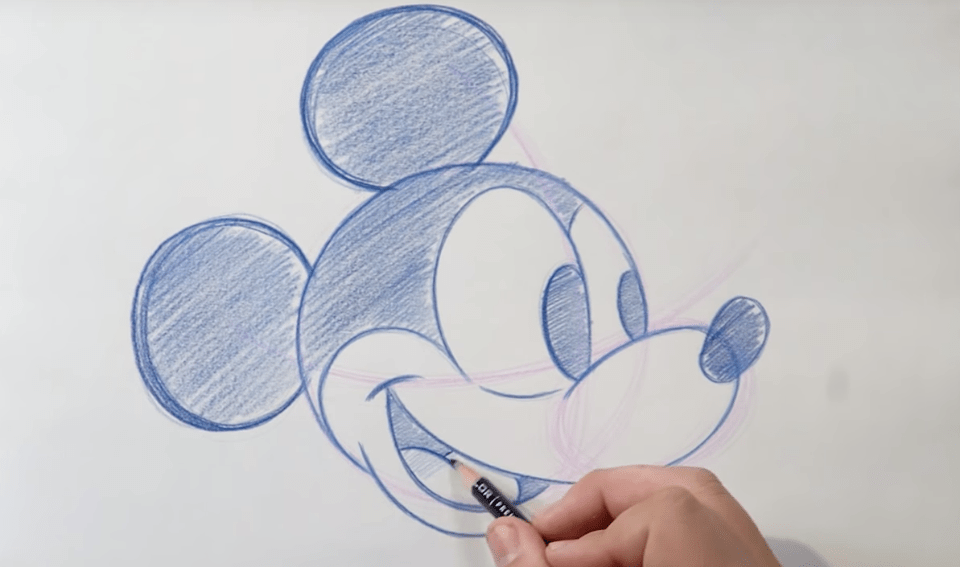 Learn To Draw Mickey Mouse!