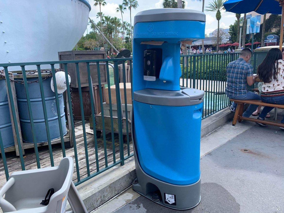 Hand Washing Stations are Popping Up all Over Walt Disney World Resort