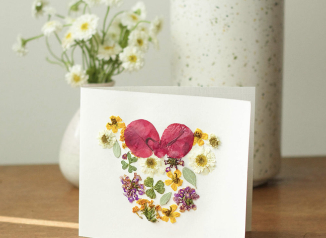 Disney Magic at Home: Learn How to Make Pressed Flower Minnie Cards