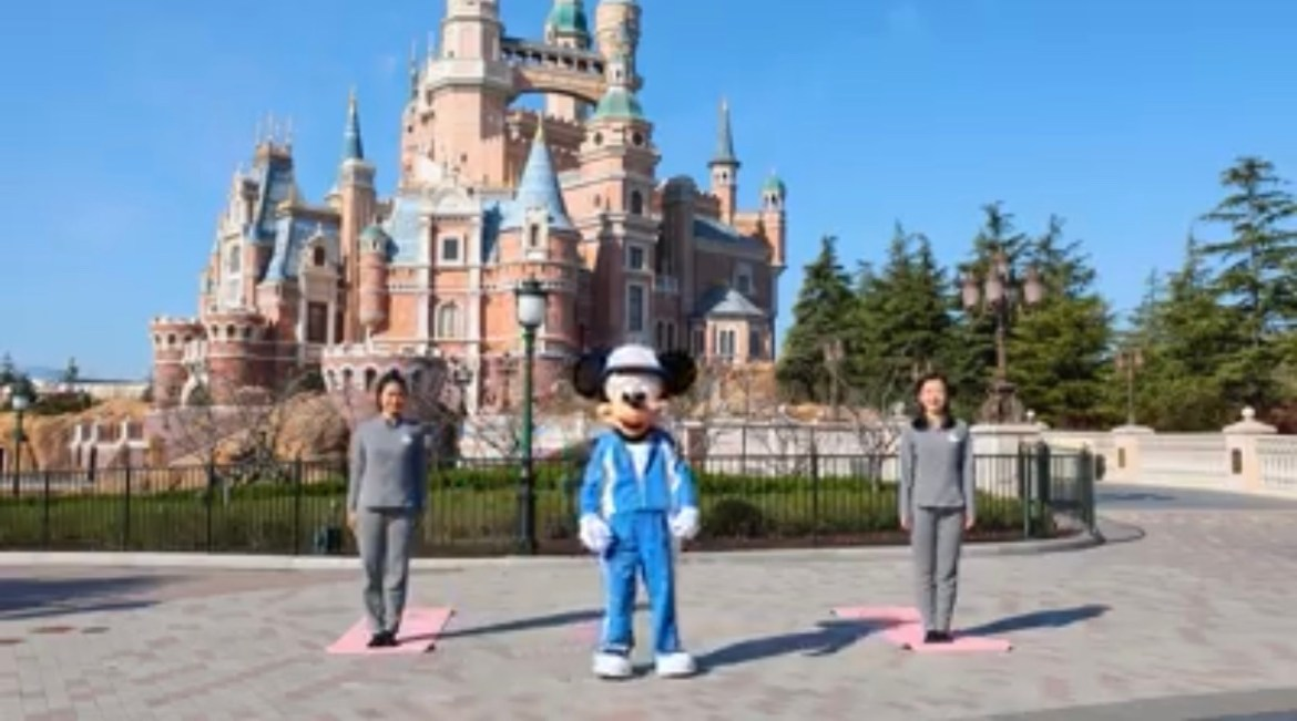 Start your day off with morning yoga with Mickey Mouse