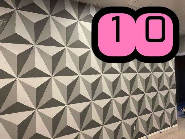 Make this Epcot Spaceship Earth Wall for your home 10
